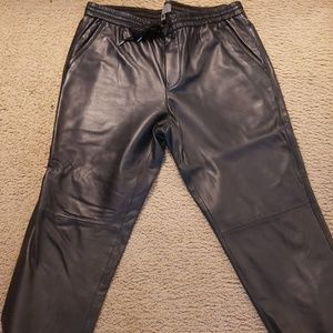 Vince 100% leather jogger like new never worn